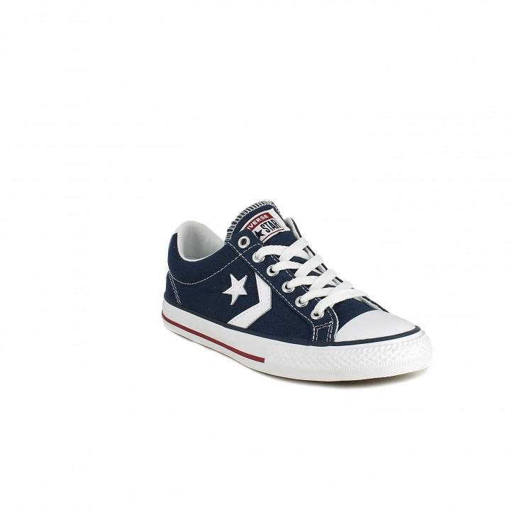 ce3a87195af ... Zapatillas lona Converse star player azul marino con cordones - Querol  online ...