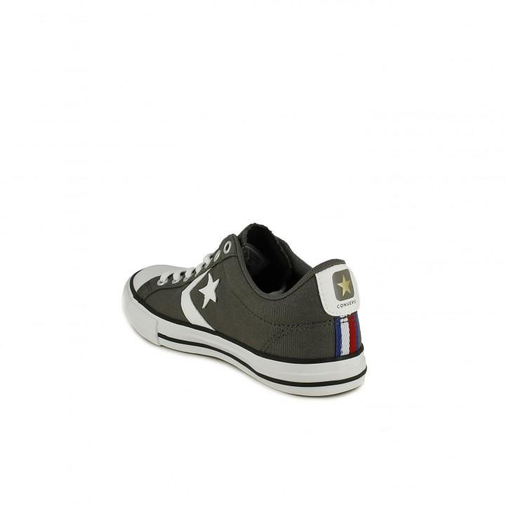 9026a064b ... Zapatillas lona Converse star player grises con cordones - Querol online