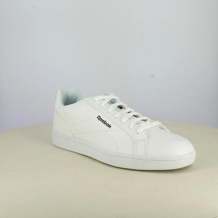 Zapatillas deportivas Reebok royal blancas con logotipo en azul - Querol online