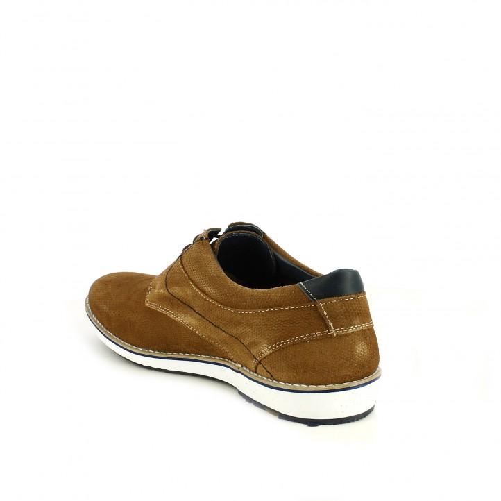 Zapatos vestir Lobo marrones de piel y cordones - Querol online