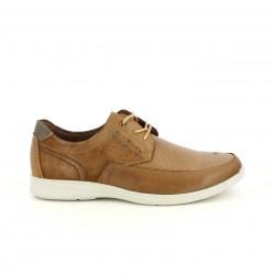 Zapatos vestir Vicmart marrones de piel y cordones - Querol online