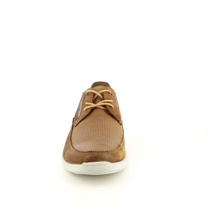 Sabates vestir Vicmart marrons de pell i cordons - Querol online