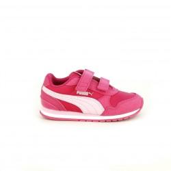 Zapatillas deporte Puma runner v2 rosas con velcro - Querol online