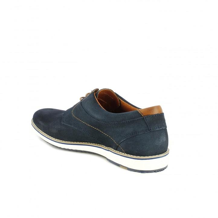 Zapatos vestir Lobo azules de piel y cordones - Querol online