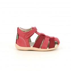 sandalias Kickers rosas y rojas cerradas con velcro - Querol online