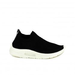 Zapatillas deportivas Xti negras sin cordones tipo calcetín - Querol online