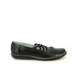 Zapatos planos Suite009 negras con tiras elásticas - Querol online