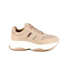 Zapatillas deportivas Refresh rosas metalizadas con plataforma - Querol online