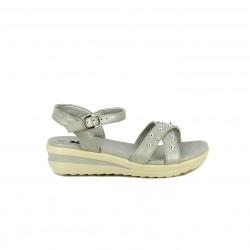 sandàlies Xti grises metal·litzades amb plataforma i sivella - Querol online