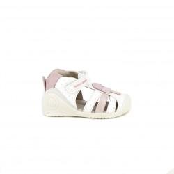 sandalias Biomecanics blancas y rosas con helado - Querol online