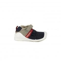 Zapatillas Biomecanics azules, marrones y rojas - Querol online