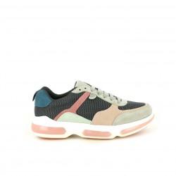 Zapatillas deportivas Gioseppo grises, rosas y azules - Querol online