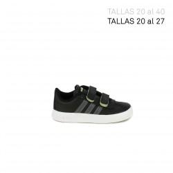 Sabatilles esport Adidas court negres amb sola blanca - Querol online