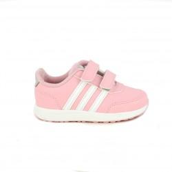 Zapatillas deporte Adidas vs switch rosas con franjas blancas - Querol online