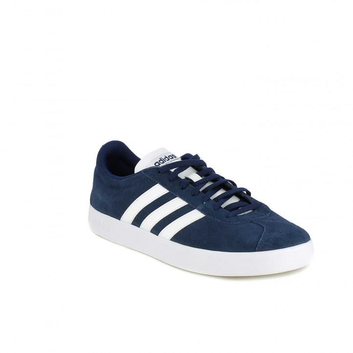 Zapatillas deportivas Adidas court azules y blancas - Querol online