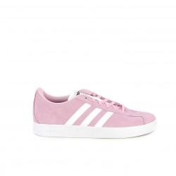 Zapatillas deportivas Adidas court 2.0 rosas con franjas blancas - Querol online