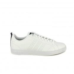 Zapatillas deportivas Adidas advantage blancas con detalles azul marino - Querol online