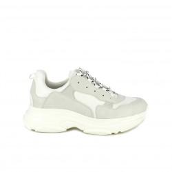 Zapatillas deportivas Owel blancas de plataforma con cordones
