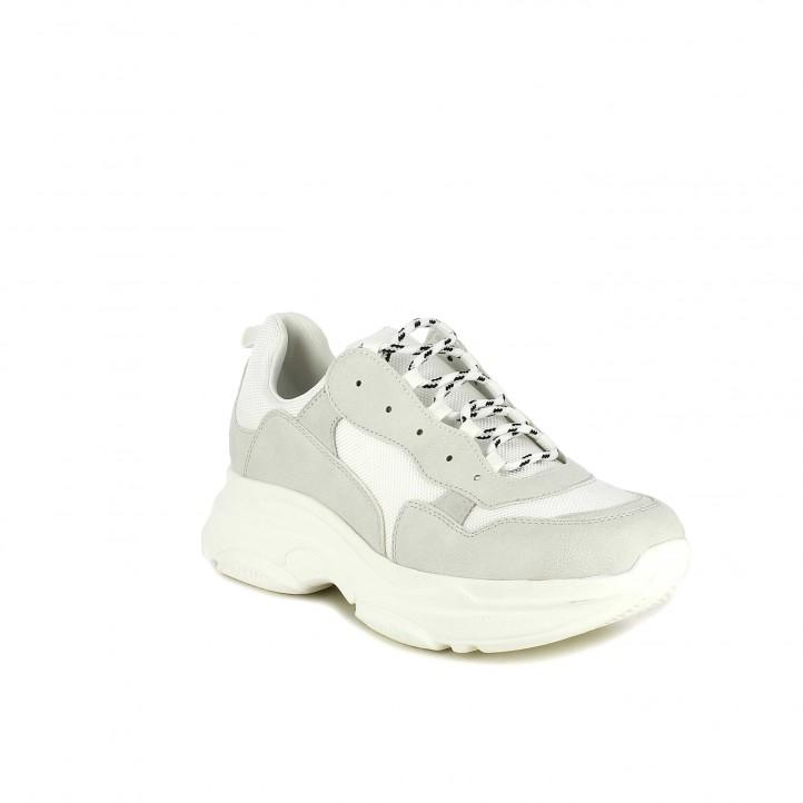 Zapatillas deportivas Owel blancas de plataforma con cordones - Querol online