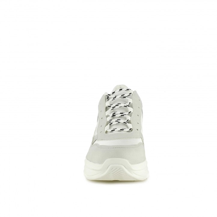 Sabatilles esportives Owel blanques de plataforma amb cordons - Querol online