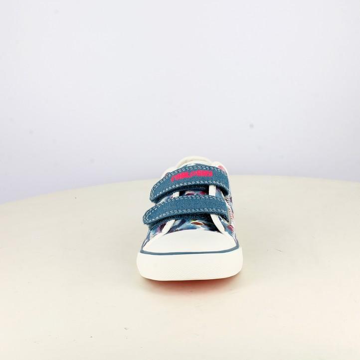 Zapatillas lona Pablosky con estampado floral de doble velcro - Querol online
