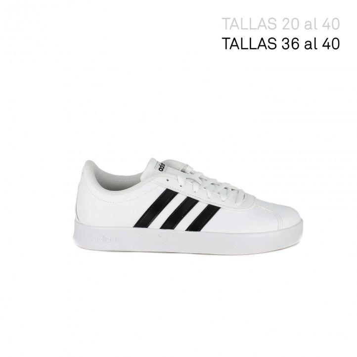 Zapatillas deporte Adidas court blancas con franjas negras