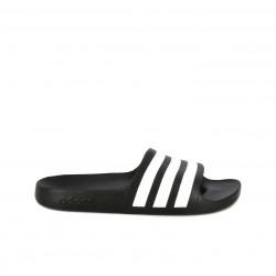 Chanclas Adidas negras con franjas blancas - Querol online