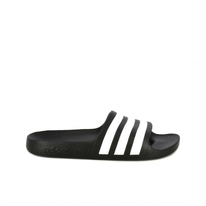 b6e4668b Chanclas Adidas negras con franjas blancas - Querol online ...