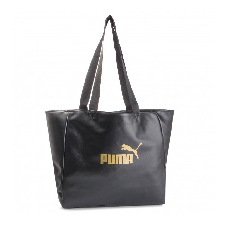Complementos Puma bolso negro con logotipo dorado - Querol online