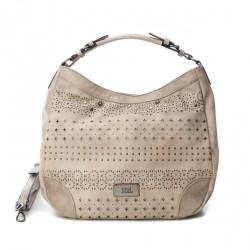 Complementos Xti bolso gris de asa con tachuelas y orificios - Querol online