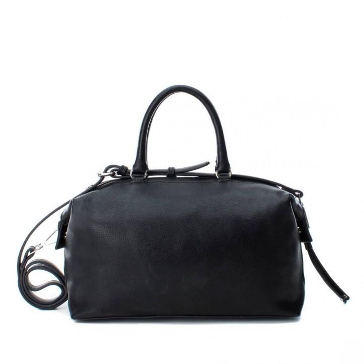 Complementos Xti bolso negro con doble asa y tachuelas - Querol online