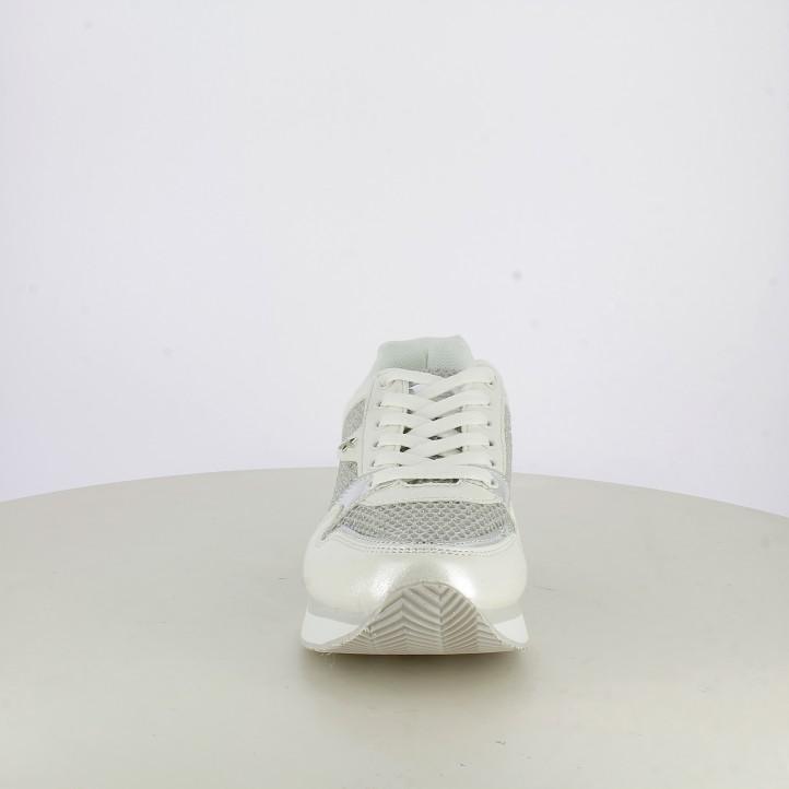 Zapatillas deportivas Refresh blancas con purpurina y plataforma
