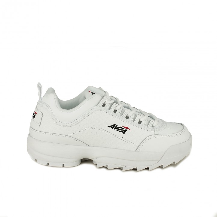 Zapatillas deportivas AVIA blancas de piel con plataforma - Querol online