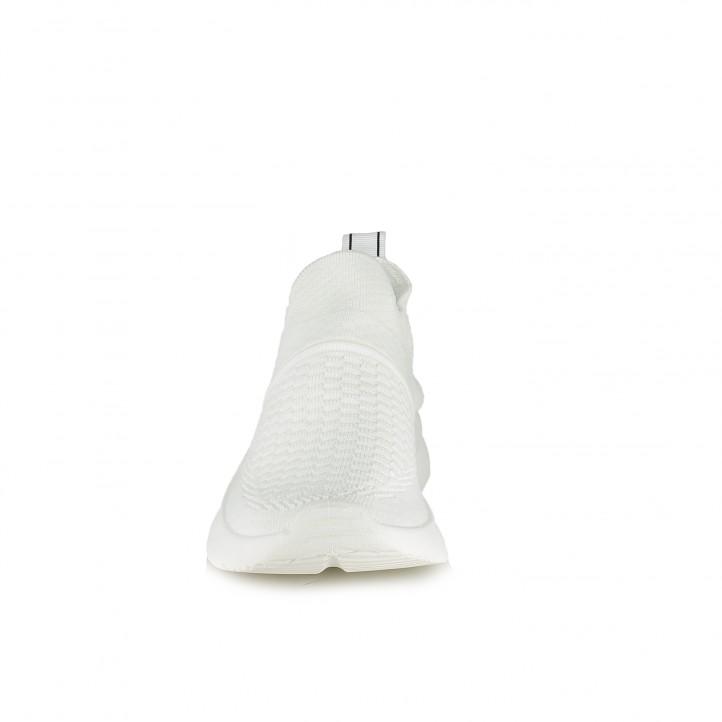 Zapatillas deportivas Xti blancas sin cordones tipo calcetín - Querol online