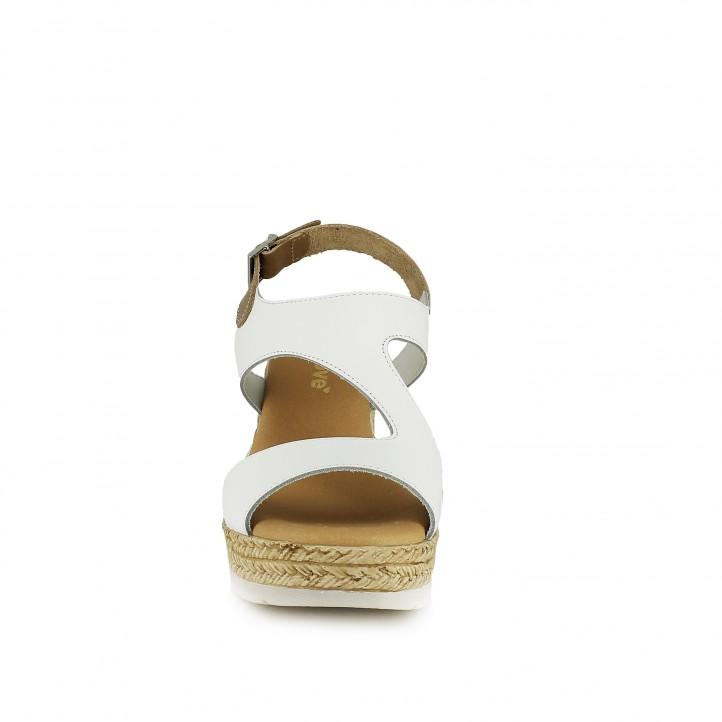 Cuñas Redlove blancas con hebilla en el tobillo - Querol online