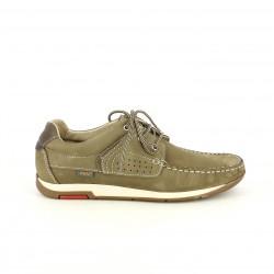 Zapatos sport Zen taupe de piel con cordones