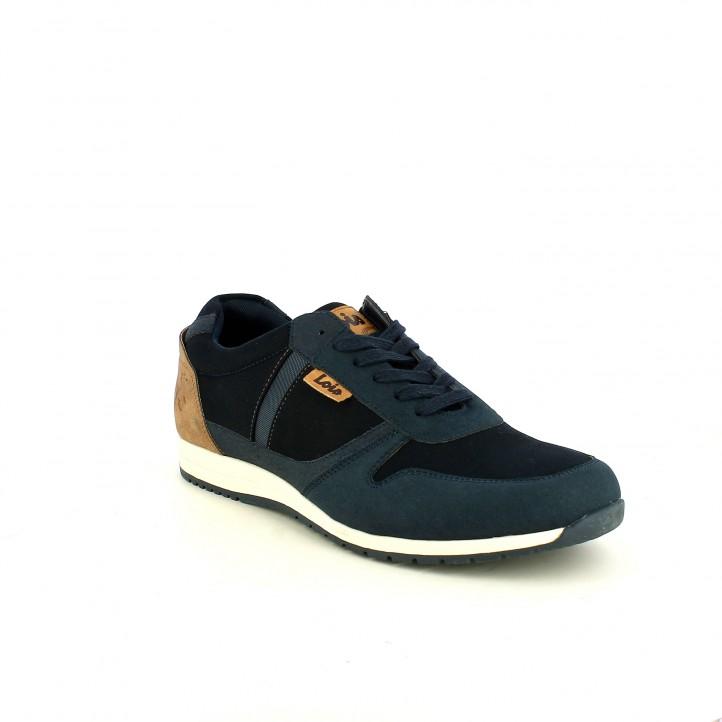 Zapatillas deportivas Lois azul marino de cordones - Querol online