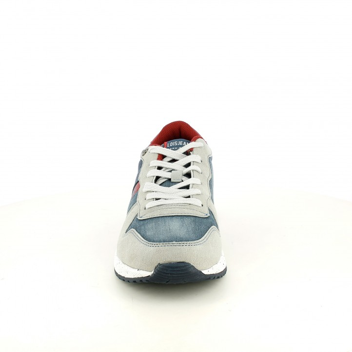 Sabatilles esportives Lois blaves texanes, grises i vermelles - Querol online