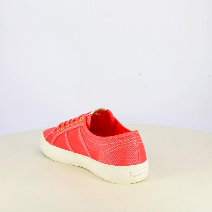 Zapatillas lona GANT rosas con cordones - Querol online