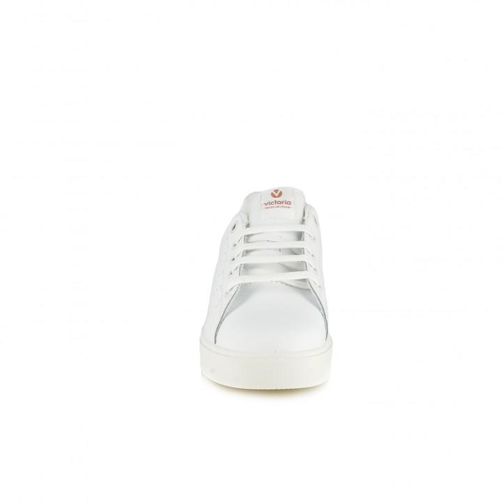 Zapatillas deporte Victoria blancas de piel con glitter - Querol online