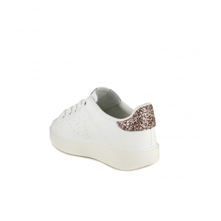 Sabatilles esport Victoria blanques de pell amb glitter - Querol online