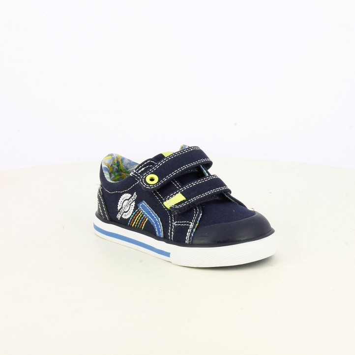 Zapatillas lona Pablosky azul marino con velcros - Querol online