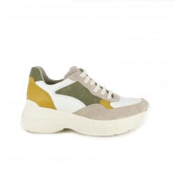 Zapatillas deportivas Redlove blancas, verdes, rosas y amarillas con plataforma - Querol online