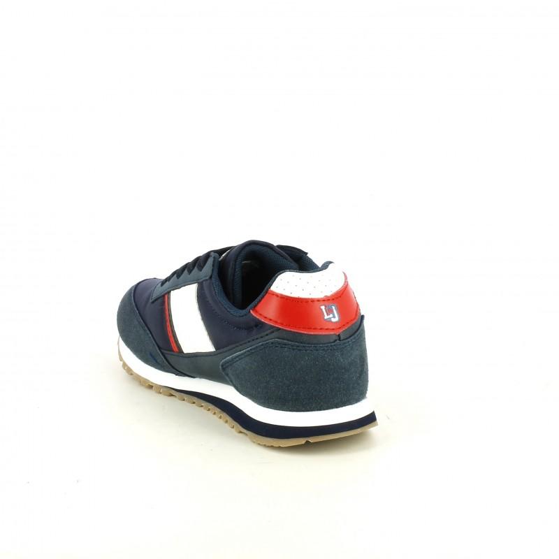 0c0d20c713 ... Zapatillas deporte Lois azules de cordones con detalles blancos y rojos  - Querol online