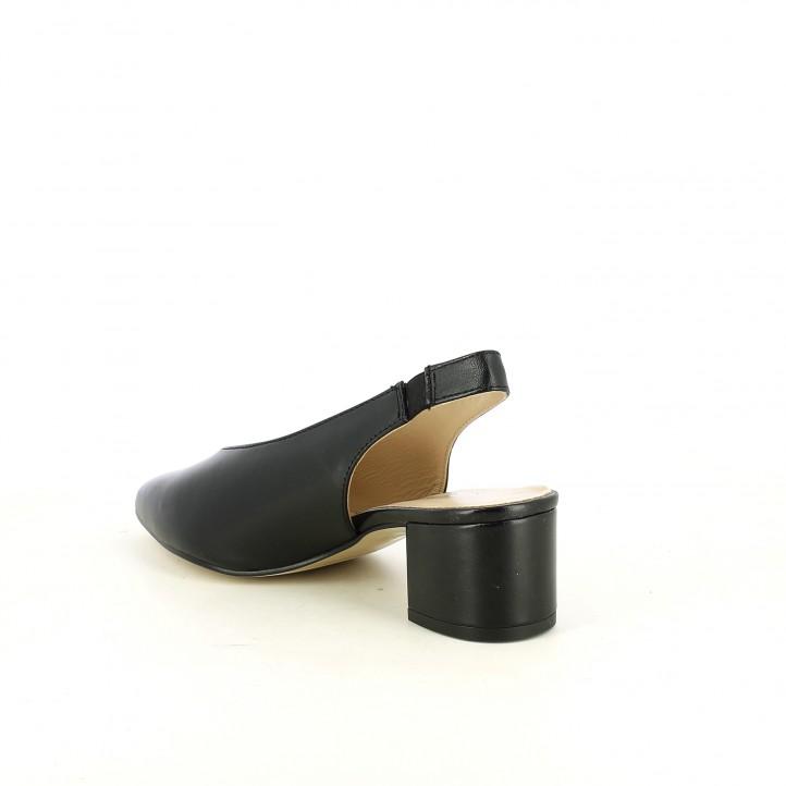 Zapatos tacón Redlove negras de punta con elástico en el tobillo - Querol online