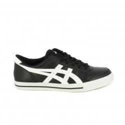 Zapatillas deportivas Asics negras y blancas de cordones - Querol online