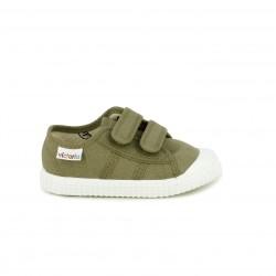 37225bb9e3 Zapatillas lona Victoria verdes con suela blanca - Querol online