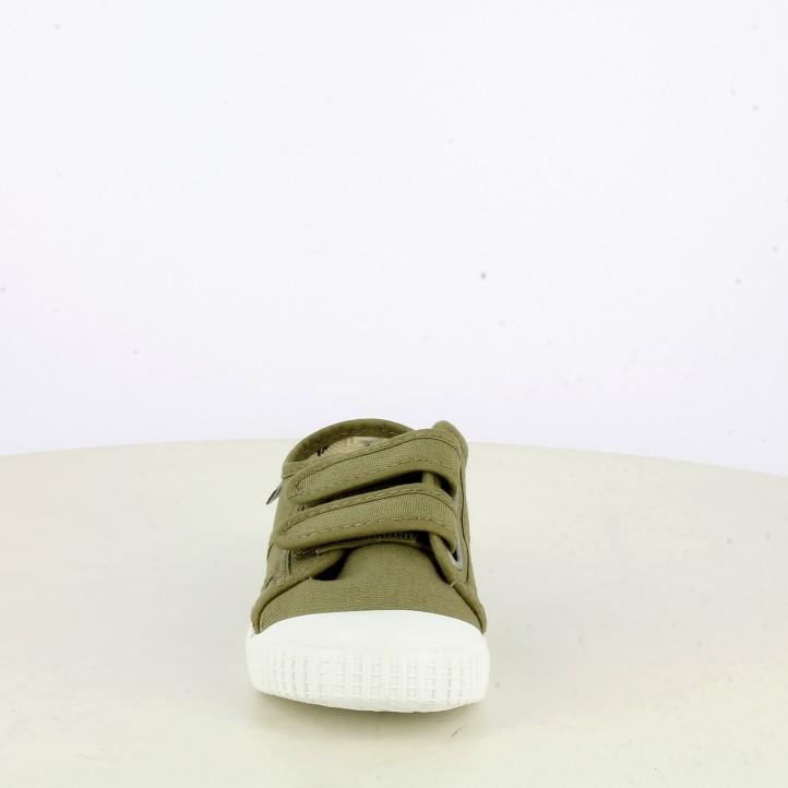 sabatilles lona Victoria verdes amb sola blanca - Querol online
