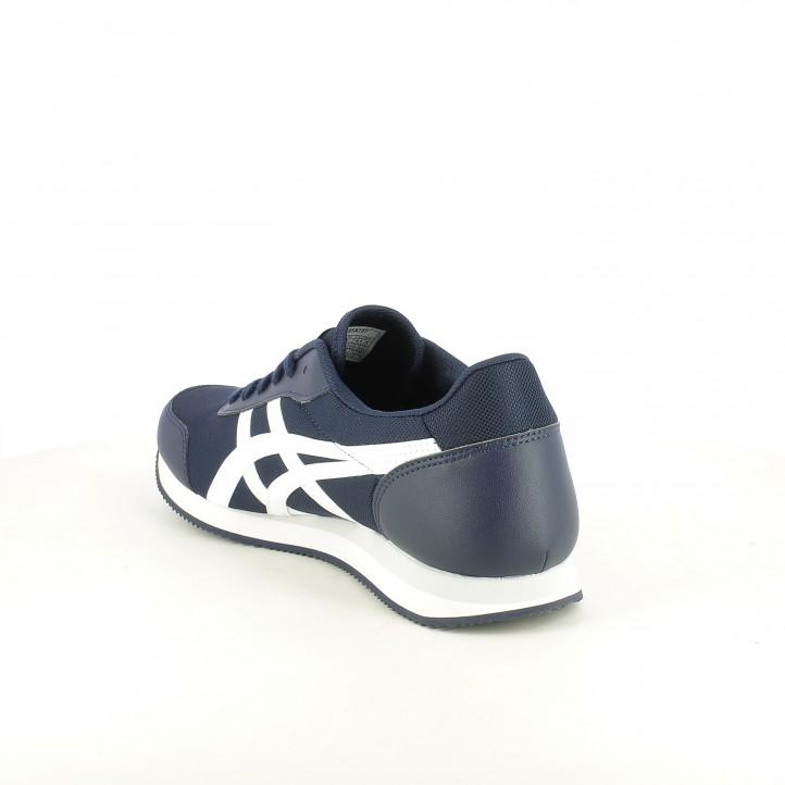 Zapatillas deportivas Asics azules y blancas con cordones - Querol online