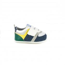 Zapatillas Mayoral grises, blancas, verdes y azules con velcro - Querol online